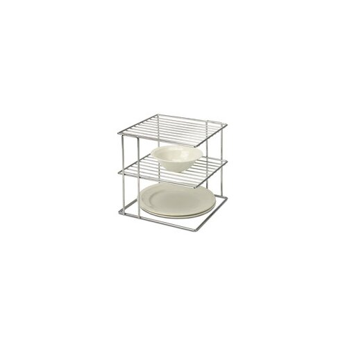 OIA 2 Tier Wire Cabinet Corner Shelf