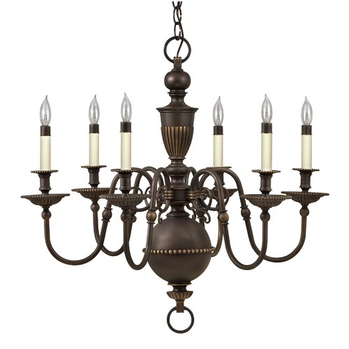 Hinkley Lighting Cambridge 6 Light Chandelier