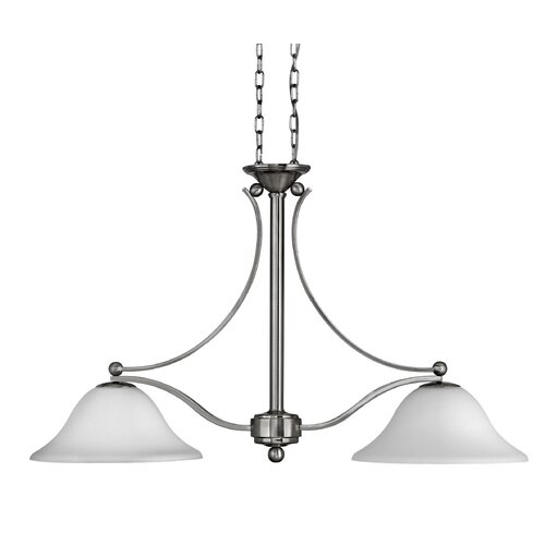 Hinkley Lighting Bolla 2 Light Dinette Mount in Brushed Nickel