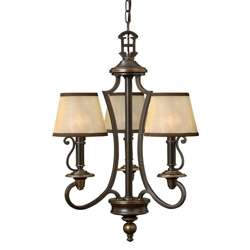 Hinkley Lighting Plymouth 3 Light Chandelier