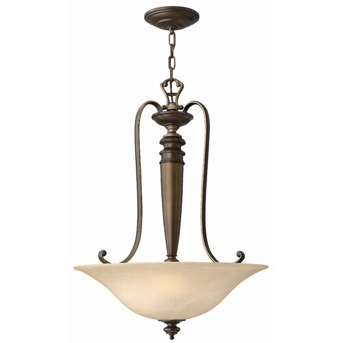 Dunhill 3 Light Invert Foyer Inverted Pendant