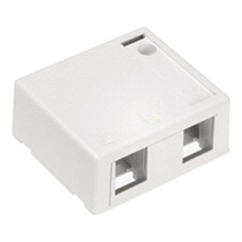 Leviton QuickPort 2 Port Surface Mount Housingin White