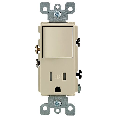 single pole switch and receptacle combination wayfair supply