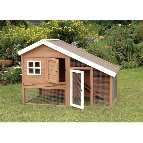 Precision Pet Products Cape Cod Chicken Coop with Chicken Run, Nesting Box and Roosting Bar