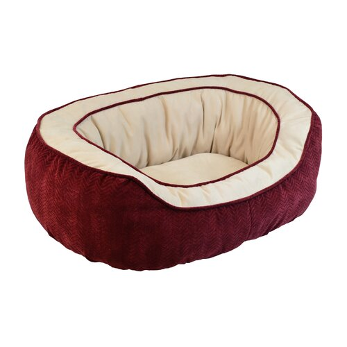 Chevron Gusset Daydreamer Bolster Dog Bed