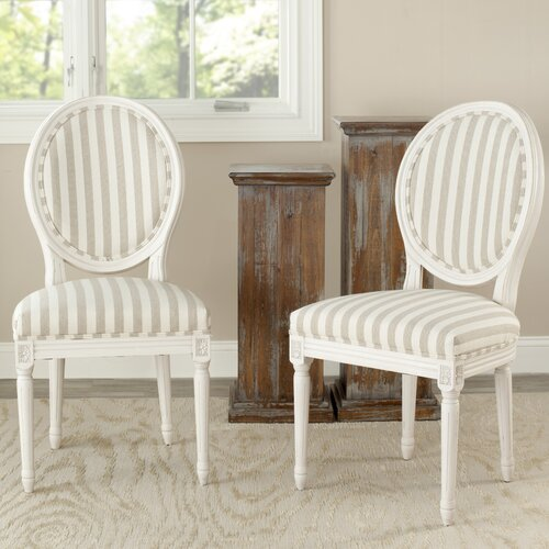 Safavieh Paris Fabric Side Chair (Set of 2)