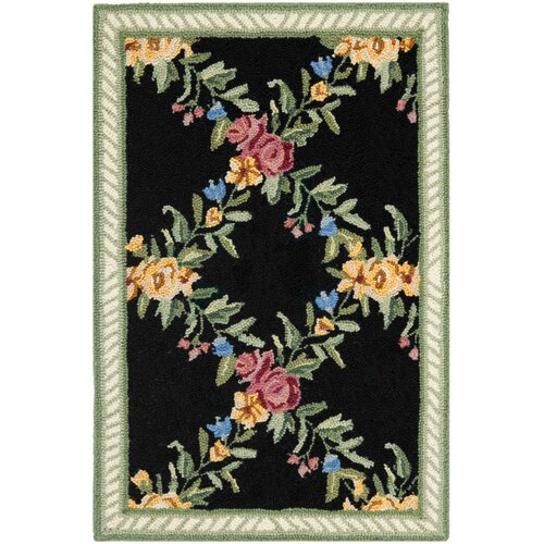 Chelsea Black English Trellis Rug