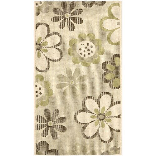 Safavieh Courtyard Natural Brown/Olive Outdoor Rug