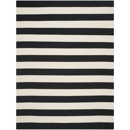 Black And White Striped Area Rugs