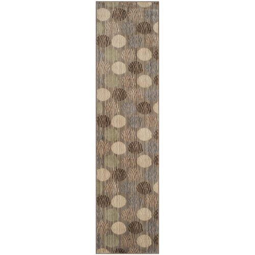 Infinity Taupe / Beige Circle Contemporary Rug