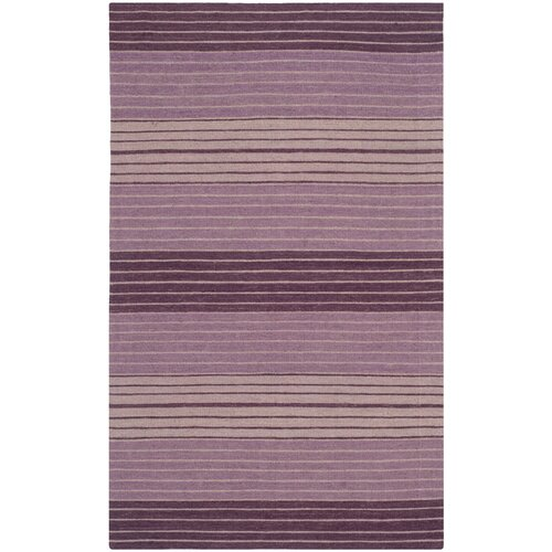 Marbella Lilac Striped Contemporary Rug