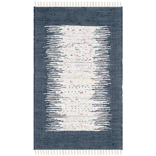 Montauk Ivory / Navy Contemporary Rug