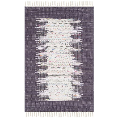 Montauk Ivory / Purple Contemporary Rug