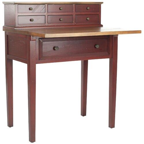 Safavieh piper fold down secretary desk reviews wayfair Fold down desk