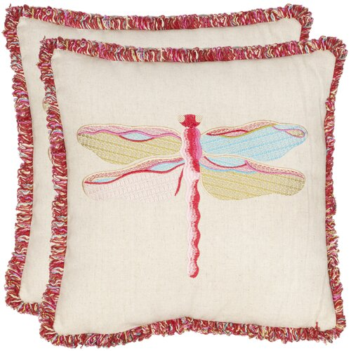 Rising Dragonfly Decorative Pillow (Set of 2)