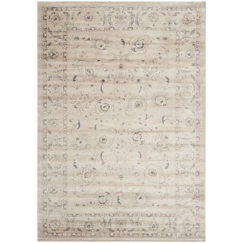 Vintage Light Grey Floral Rug