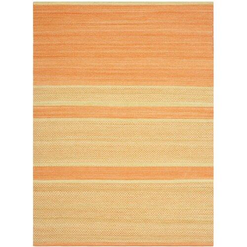 Kilim Orange / Lime Striped Rug