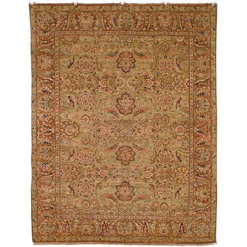 Old World Light Green/Gold Agra Rug