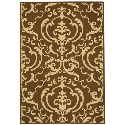 Safavieh Courtyard Chocolate/Natural Outdoor Rug