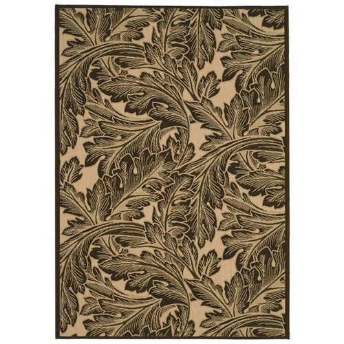 Safavieh Courtyard Natural/Chocolate Outdoor Rug