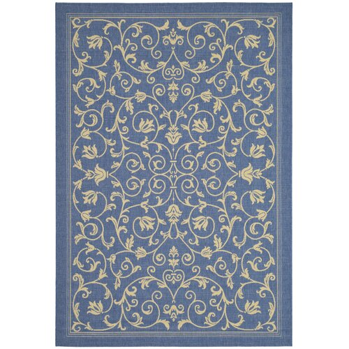 Courtyard Blue/Natural Outdoor Rug