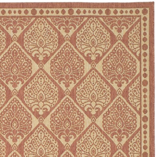 Safavieh Courtyard Rust/Sand Outdoor Rug