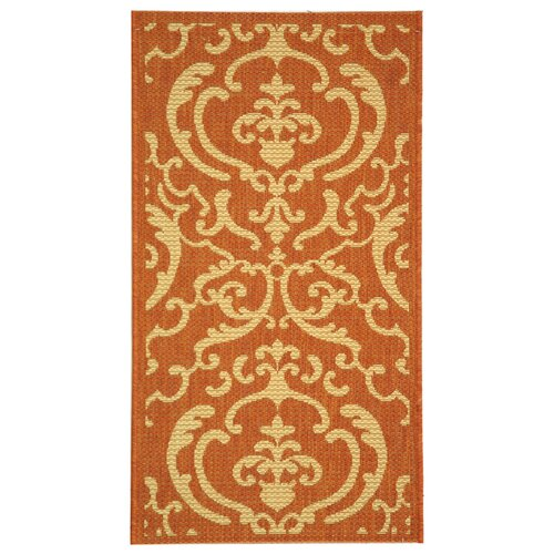 Safavieh Courtyard Terracotta / Natural Outdoor Rug