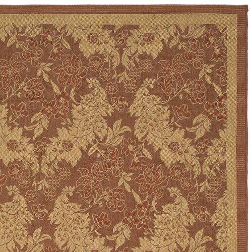 Safavieh Courtyard Brick Outdoor Rug