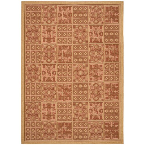 Safavieh Courtyard Dark Brick Outdoor Rug
