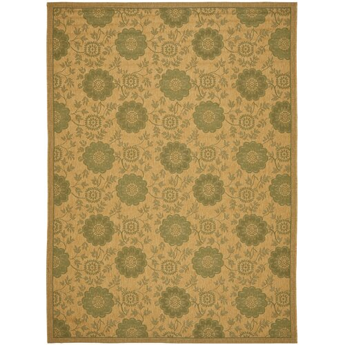 Safavieh Courtyard Natural/Green Outdoor Rug