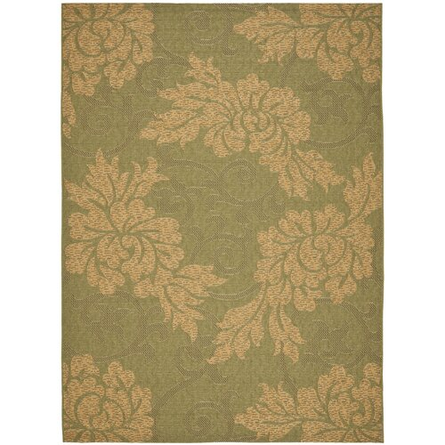 Safavieh Courtyard Green/Natural Outdoor Rug