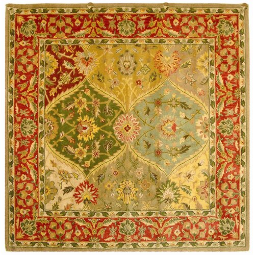 Heritage red yellow floral area rug wayfair for Red floral area rug