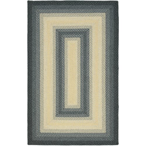 Safavieh Braided Black/Grey Area Rug
