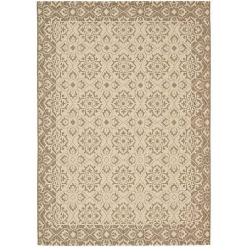 Safavieh Courtyard Crème/Brown Outdoor Rug