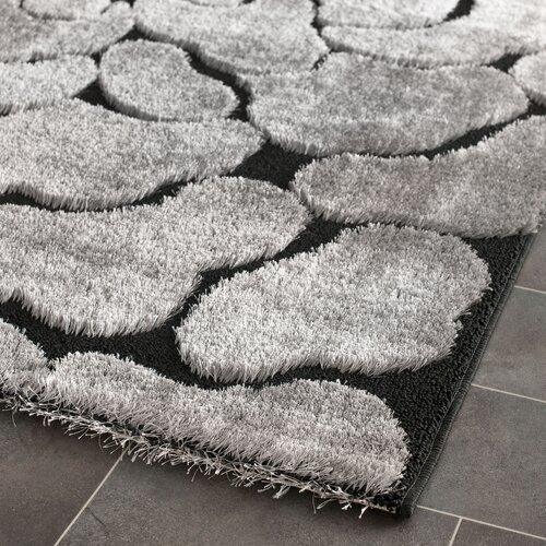 Safavieh Miami Shag Black/Grey Rug