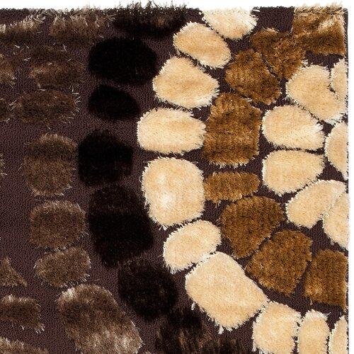 Safavieh Miami Shag Brown/Multi Rug