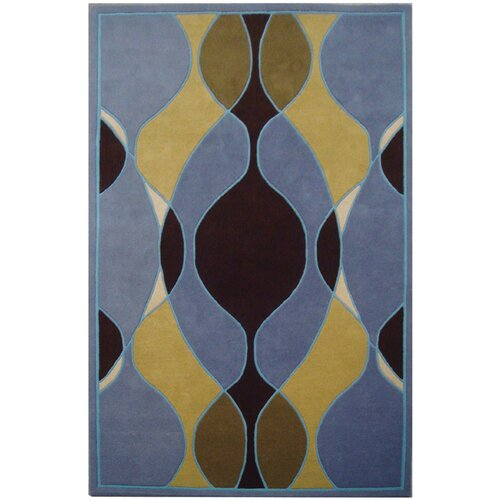 Soho Blue/Multi Swirl Rug