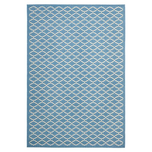 Safavieh Courtyard Blue / Beige Outdoor Rug