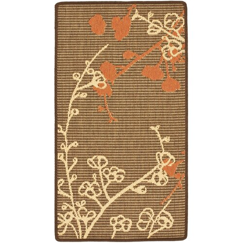 Safavieh Courtyard Brown Natural/Terracotta Outdoor Rug