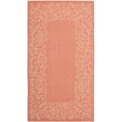 Safavieh Courtyard Rust / Sand Outdoor Rug