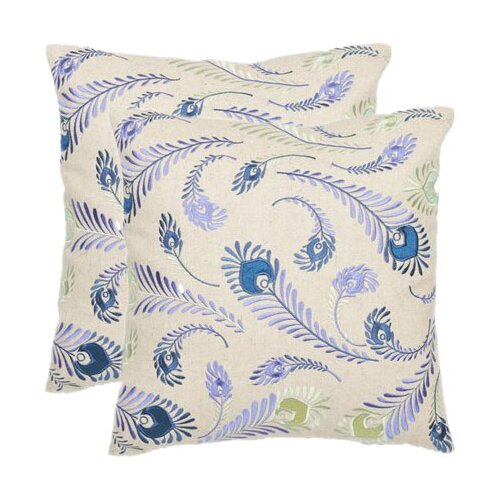 Peacock Feathers Decorative Pillow (Set of 2)