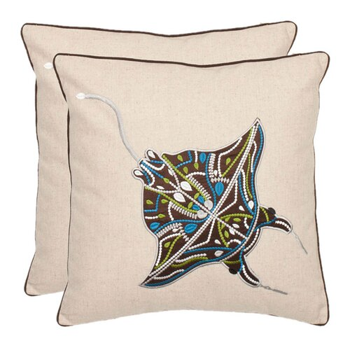 Ocean Stingray Decorative Pillow (Set of 2)