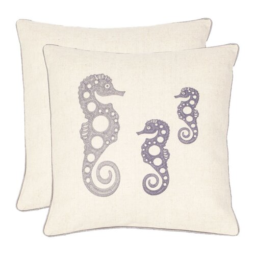 Ocean Seahorse Decorative Pillow (Set of 2)