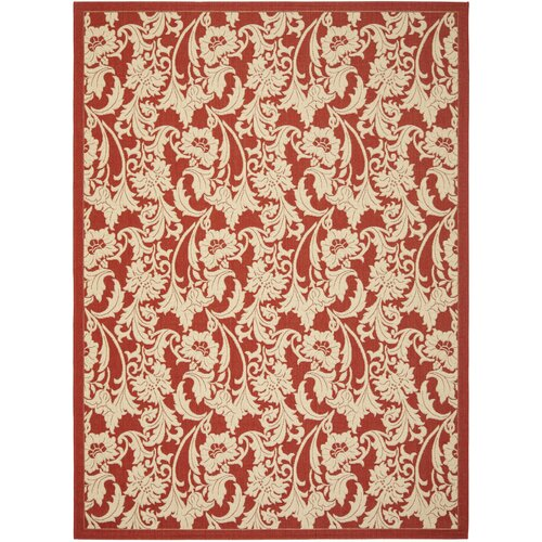 Courtyard Red/Crème Outdoor Rug