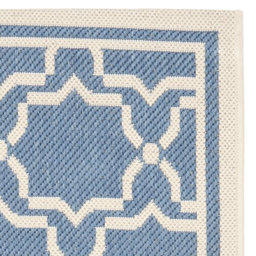 Safavieh Courtyard Blue/Beige Outdoor Area Rug