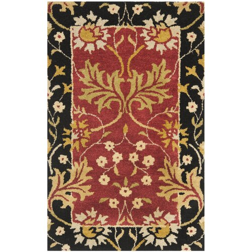 Jardin Red / Black Floral Rug