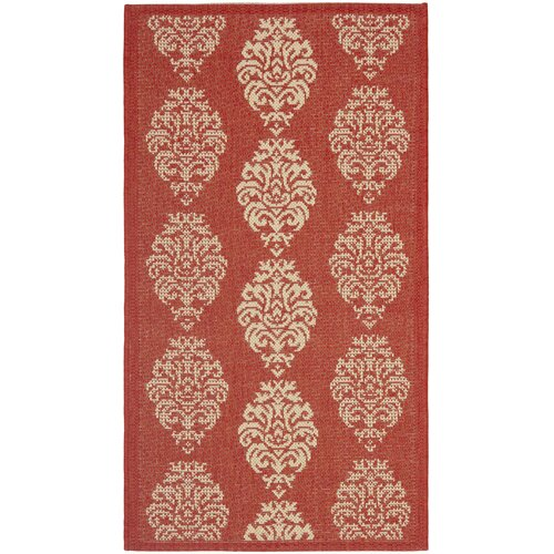 Safavieh Courtyard Red/Natural Outdoor Rug