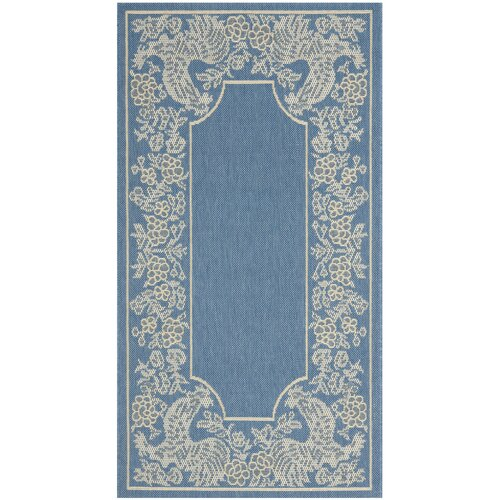 Safavieh Courtyard Blue/Natural Indoor/Outdoor Rug