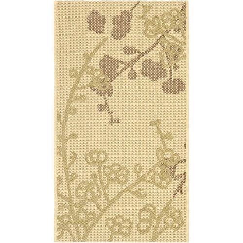 Courtyard Natural Brown/Olive Outdoor Rug