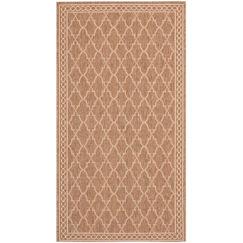 Safavieh Courtyard Dark Beige/Beige Indoor/Outdoor Rug